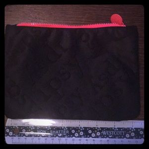 Black Ipsy cosmetics bag